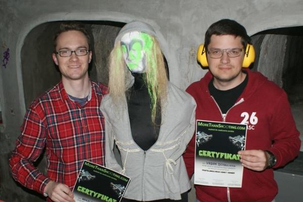 Vadym i Nikolay - prosto z Niemiec i Rosji zawitali na Strzelanie do Zombie we Wrocławiu 10-12.04.2015 r.